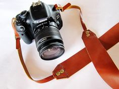 Leather Camera Strap by AwesomeWomen on Etsy