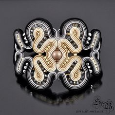 Soutache Bracelet,Soutache Jewelry, Bracelet gift, Subtle jewelry, Elegant jewelry, Wide bracelet
