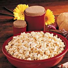 Nacho Popcorn. 5 quarts popped popcorn, 1/2 cup butter, melted, 2 tbsp grated Parmesan cheese, 2 tbsp dried parsley flakes, 1 tsp garlic salt, 1 tsp chili powder, 4-6 drops hot pepper sauce. Place popcorn in a large bowl. Combine remaining ingredients; drizzle over popcorn and toss until well coated.