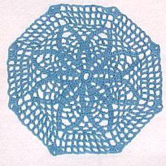 Filet Net Star Doily - A free Crochet pattern from jpfun.com.
