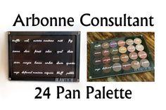 24 Eyeshadow Pan Arbonne Consultant Palette Magnetic door GlamTech