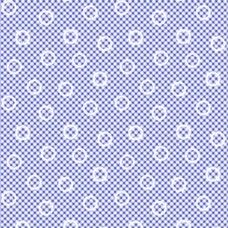 Pam Kitty Garden - Navy Mini Gingham