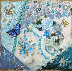 Crazy Quilting and Embroidery Blog by Pamela Kellogg of Kitty and Me Designs: Little Basket Crazy Quilts