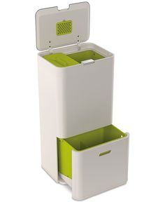 If you're committed to recycling, you'll love the way the Totem unit makes it easy to do the right thing. The 60-liter system by Joseph Joseph let you separate waste and keep down odors.   Wipe clean