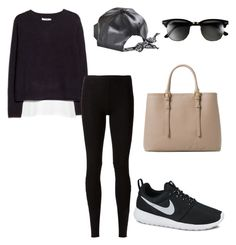 """""""Untitled #44"""" by bangtancuties on Polyvore featuring Topshop, MANGO, Rick Owens Lilies, NIKE, Bambam and Ray-Ban"""