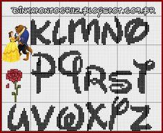 monograma Bela e a Fera by Dinha ponto cruz