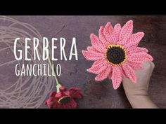 Tutorial Flor Gerbera Ganchillo | Crochet - YouTube Más