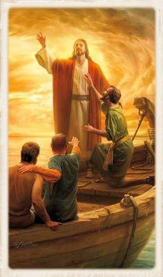 Imágenes religiosas de Galilea: Jesús en la barca