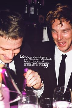 Benedict cumberbatch on working with martin freeman