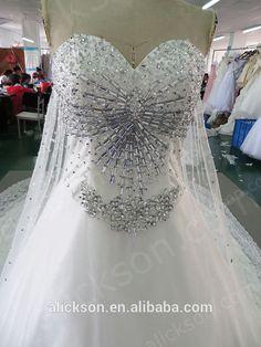 2014 A Line Crystals And Beaded Lace Sweetheart Neck Luxury Wedding Dress, View Luxury Wedding Dress, Alickson Product Details from Suzhou Alickson Trading Co., Ltd. on Alibaba.com