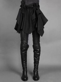 Ann-Demeulemeester-Black-Calfskin-Over-The-Knee-Boots-Diagonal-Back-Zip-Closure