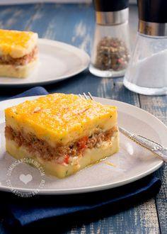 Receta Pastelón de Papas: Una comida completa en sí mismo, y un plato popular en que puedes usar el relleno de tu preferencia. Te encantará.