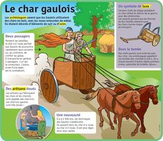 Fiche exposés : Le char gaulois French Education, Celtic Culture, French Phrases, French History, French Language Learning, Cycle 3, Home Schooling, Learn French, Ancient History
