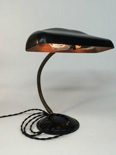 Antique Desk Lamp Bankers Desk Lamp by ModernArtifactDecor on Etsy