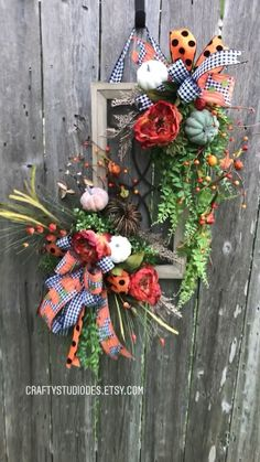 Fall Wreath Fall Window Pumpkin Wreath Picture Frame Wreath Fall Door Hanger Fall and Halloween Wreaths Christmas Wreaths For Windows, Front Door Christmas Decorations, Holiday Wreaths, Wall Decorations, Thanksgiving Decorations, Pumpkin Wreath, Wreath Fall, Picture Frame Wreath, Halloween