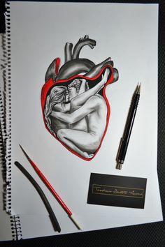 Romeo and Juliet... #humanheart #heart #romeoandjuliet #romeo #juliet #teodosio #greekartist #greekart #greece