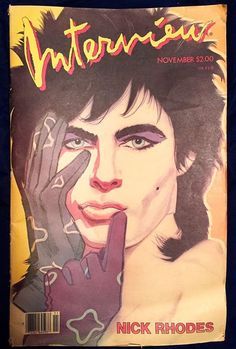 single issue #magazine andy warhol's interview #magazine november 1985 nick rhodes from $19.5