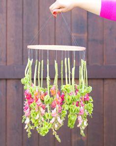 DIY: Coronas de flores colgantes