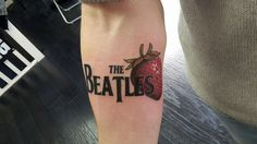My first beatles tattoo...Strawberry Fields Forever #thebeatlestattoo #Strawberryfields