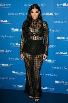Kim Kardashian Wearing Sheer Maxi Dress in Cannes?