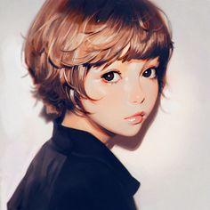 Kuvshinov Ilya is creating Illustrations and Comics Digital Art Girl, Digital Portrait, Portrait Art, Portraits, Character Illustration, Illustration Art, Kuvshinov Ilya, Art Japonais, Deviant Art
