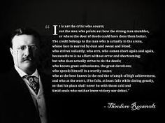 Image result for theodore roosvelt quote the dooer