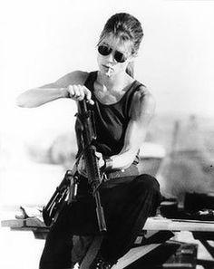 this image motivates me.   Linda Hamilton's Terminator 2 Workout and Diet Plan
