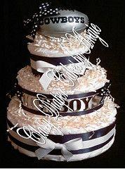 Dallas Cowboys Diaper Cake   Dallas Cowboys 1