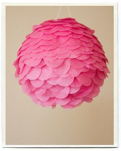 DIY Flower Pinata | Flickr... get a paper lantern and cover with colored paper to match decor