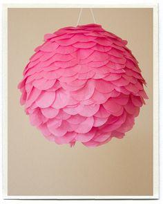 Flower lamp DIY