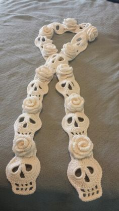 Skulls and Roses scarf