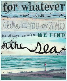 beach and quote - Google Search