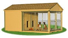 large double animal kennel outside