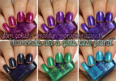 the nail polish challenge: Glam Polish Diamonds Are A Girls Best Friend Collection: Swatches & Review