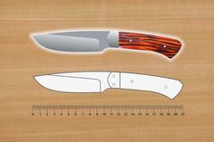 Knife Template, Benchmade Knives, Knife Patterns, Diy Knife, Best Pocket Knife, Custom Knives, Survival Knife, Knife Making, Metal Working