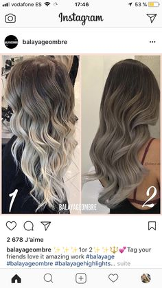 Source by …, … - All For Hair Color Trending Cabelo Ombre Hair, Balayage Hair, Haircolor, Love Hair, Gorgeous Hair, Hair Color And Cut, Silver Hair, Hair Highlights, Hair Day