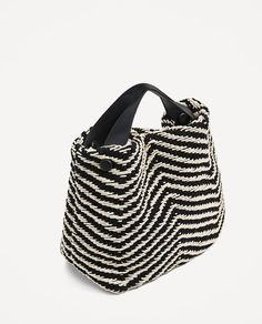 ZARA - WOMAN - CONTRAST FABRIC BUCKET BAG