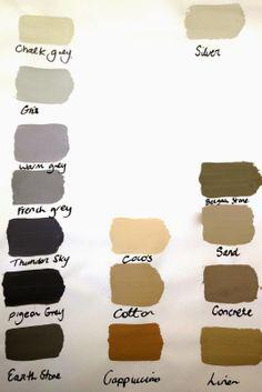 by latreilledesignInteriorsblogAutentico Chalk paint Colours 40 to choose from! THE GREYS & NEAUTRALS