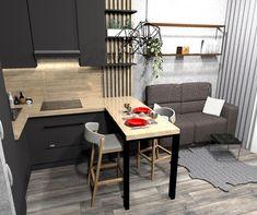 67 Ideas apartment studio kitchen small for 2019 Condo Interior Design, Small Apartment Interior, Small Apartment Kitchen, Small Apartment Design, Condo Design, Studio Apartment Decorating, Apartment Layout, Kitchen Interior, Small Condo Living