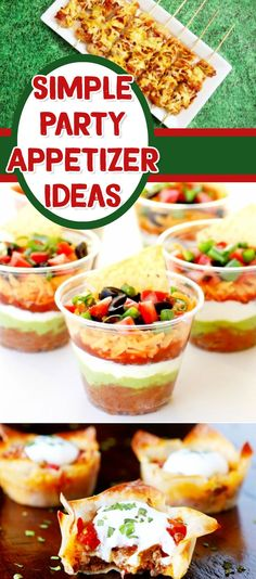 PARTY APPETIZERS -  easy appetizers for a crowd - appetizer recipes with pictures - easy appetizers finger foods