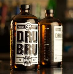 Dru Bru Mini-Growler Beer Bottles