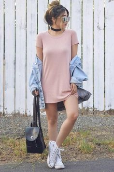 Tupfen in Paris - Mode Kleider Modelle - Style Cute Outfits For School, Cute Fall Outfits, Stylish Outfits, Spring Outfits, Teen Party Outfits, Simple Outfits For Teens, Party Outfit For Teen Girls, Casual Party Outfit Teen, Dress Casual