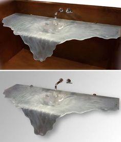 Bathroom Sinks Houston Tx epoxy metallic marble stained bathroom sink | concrete counters