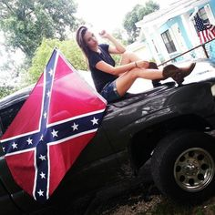 Rebel flag n chevy girl! :) | PORTRAIT IDEAS