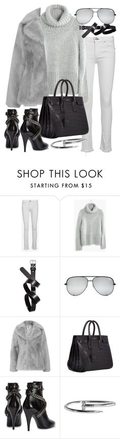 """Untitled #20742"" by florencia95 ❤ liked on Polyvore featuring rag & bone/JEAN, Madewell, H&M, Jakke and Yves Saint Laurent"