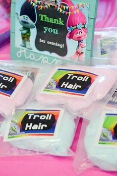 Troll Hair Cotton Candy for Trolls Birthday Party - The Gifted Gabber