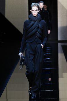 #GiorgioArmani Fall 2017 women's shown at the  Menswear collection presentation.