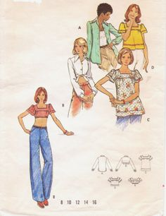 Vintage 70s Butterick Sewing Pattern 3024 Womens by CloesCloset, $8.00