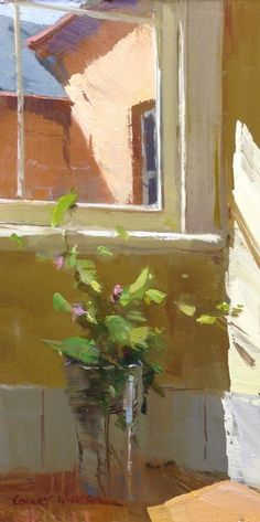 "Colley Whisson Version 2 of ""Morning Light"" Oil 9""x 5"""