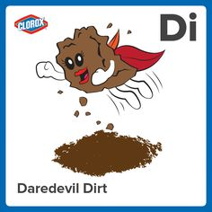 Daredevil Dirt: the earthly substance tread upon by the timid and jumped into by the bold. #PiMonth #StainPins